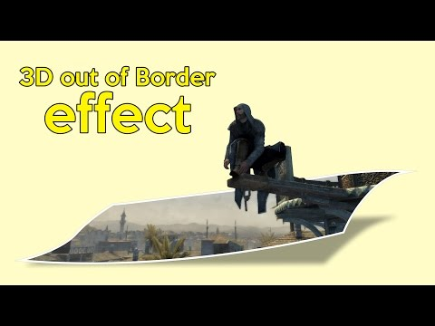 How to draw Out of Border 3D effect in CorelDraw