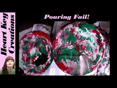 Fluid Painting Fail Red Green and White