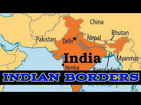 Indian Borders knowledge -Pakistan,Bhutan,China, Myanmar, bangladesh, Nepal