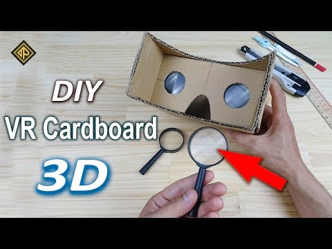 How To Make Simply VR Cardboard At Home   DIY VR 3D