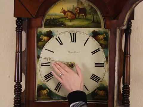 English 1790 Antique Georgian Tall or Long Case Grandfather Clock W-19145