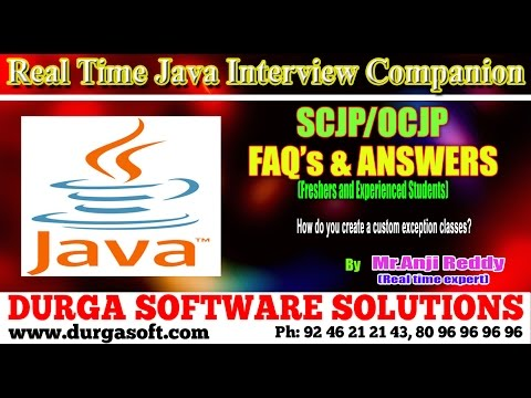 Java Interview Companion | Java |How do you create a custom exception classes?
