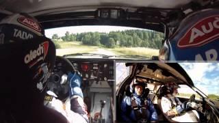 Jari-Matti Latvala on Audi UrQuattro Gr.4 - On Board Camera - Rally Estonia 2013 Shakedown