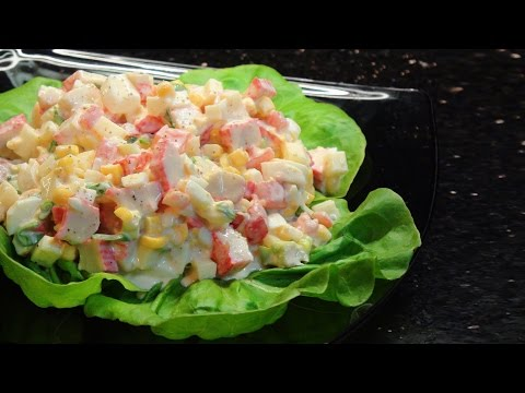 How to make a simple Crab Stick Salad