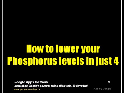 Healthy :     How to Lower Phosphorus in 4 DAYS (see my blogsite)