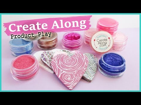 Product Play: Mica Powders and Silk Screens From Create Along || Maive Ferrando