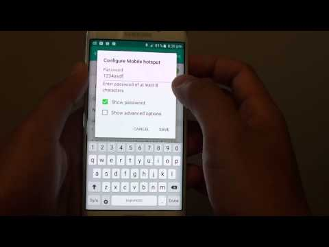 Samsung Galaxy S6 Edge: How to Change the Default Mobile Hotspot Password