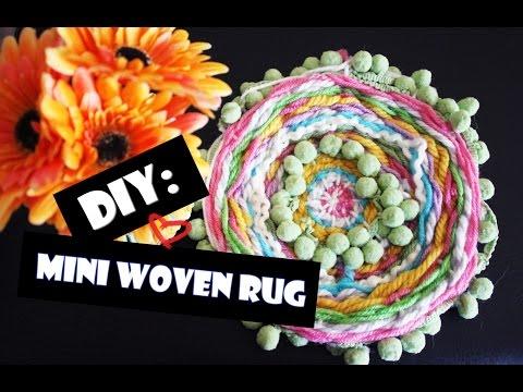 DIY: Circular Mini Woven Rug -- No Sewing Needed!