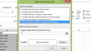 Microsoft Excel Highlighting Duplicate Rows
