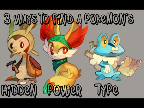 How to find a pokemon's hidden power type- Pokemon X and Y