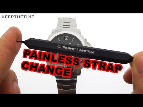 Panerai Luminor 1950 Quick Strap Changing System HANDS-ON