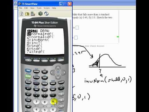 Using the invNorm function on the TI-83/84