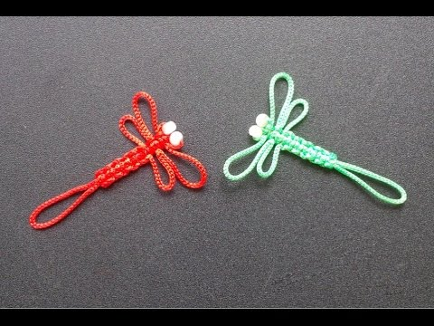How To Make Paracord Dragonfly Keychain - Craft Tutorial