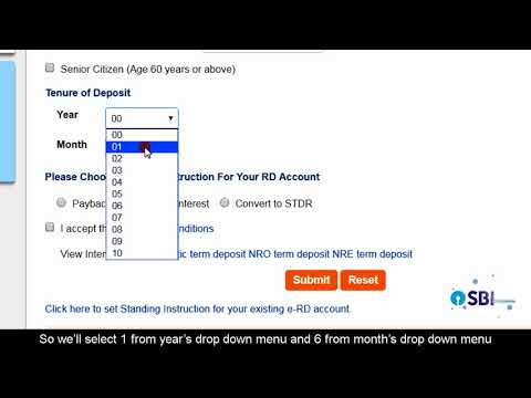 SBI RINB – How to Open an Online Recurring Deposit (e-RD) Account