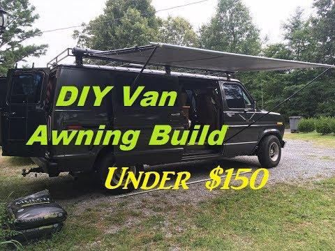 DIY Retractable Camper Van Awning Build for under $150