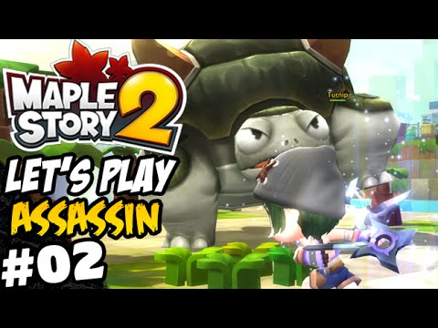[ Maplestory 2 ] Lets Play Assassin Part 2 - Level 10-15 - Turtle Terror!