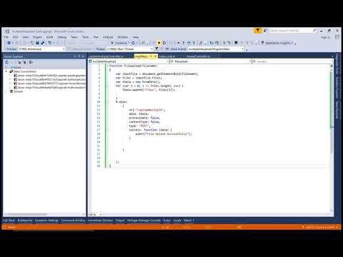 Upload Multiple Files using FileUpload Control in ASP.NET CORE