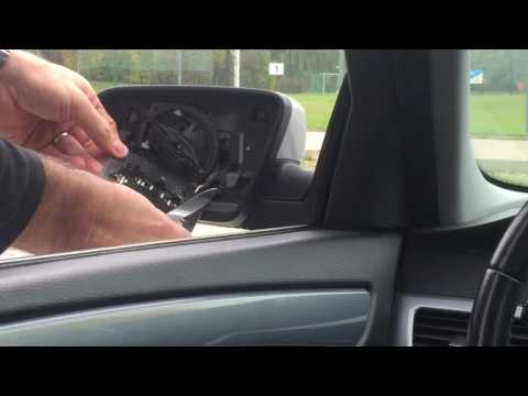 Replacing the side mirror glass on a BMW E60 (5 Series)