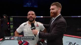 UFC Florida: Dan Ige Octagon Interview