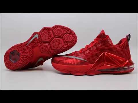 c18a15300fb ... germany nike lebron xii 12 low red october 724557 616 kixrx university red  red black mens
