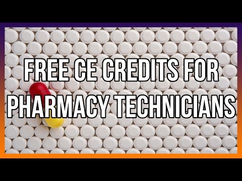 Free CE Credits For Pharmacy Technicians