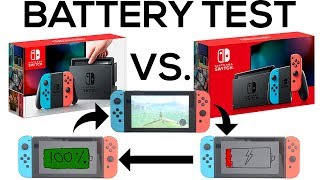 NEW Nintendo Switch V2 vs OLD V1 Switch - Battery Life (100% to 0%) and Charging Test (0% to 100%)