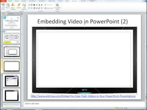 How to embed a You Tube video in to PowerPoint 2010 (2)