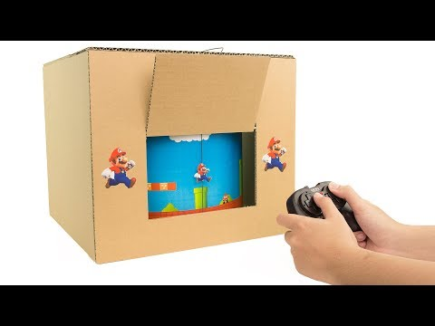 How to Make Amazing SUPER MARIO GamePlay from Cardboard