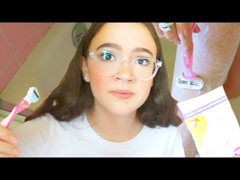 Teen Tries Shaving VS Waxing (First Time) How-To Tips | FionaFrills