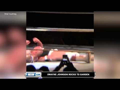 Dwayne Johnson Rocks TD Garden