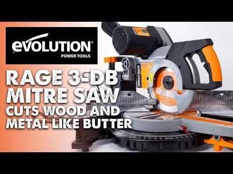 Evolution Rage3-DB Mitre Saw / Miter Saw : Wood & metal cut like butter!