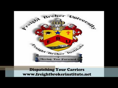 Understanding the Dispatching Your Carriers from our Freight Broker Training Manual