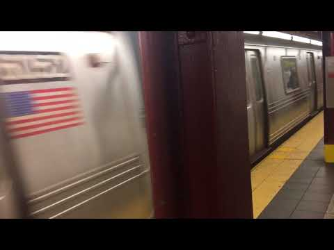 R46 (A) train leaving 34th street penn station (Late night)