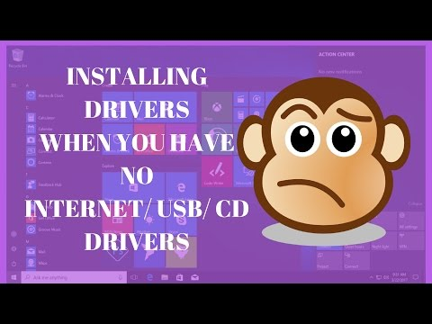 No Internet, USB, or CD drive. | What to do? | How to install drivers ?