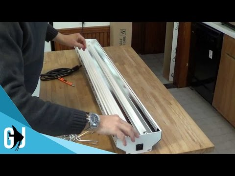 #142: Unboxing New Wave T5 HO (High Output) Fluorescent Lighting for Fish Room - Update Monday