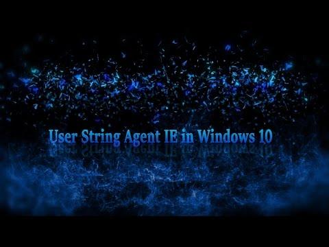 Windows 10: User Agent String in Internet Explorer