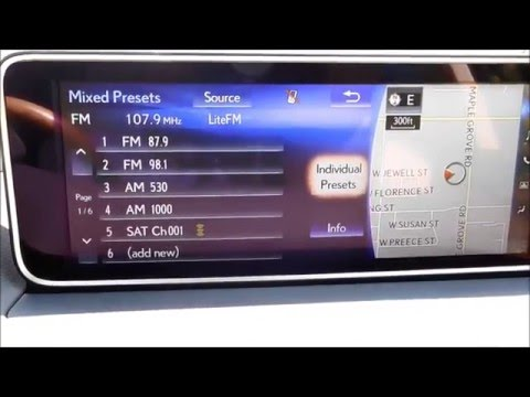 iTeachLexus How To Set Audio Presets FM, AM, Satellite Radio 2016 Lexus Models