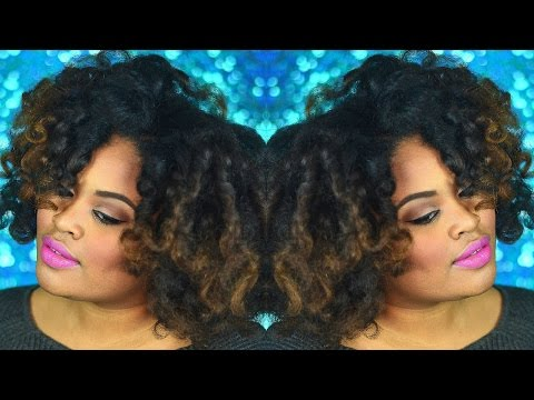 Heatless Curls | Perm Rod on Natural Hair