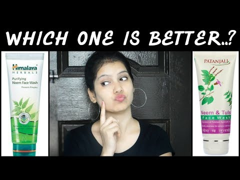 Patanjali Neem Tulsi Face wash VS Himalaya Neem Face wash|Which One Is Better||TipsToTop By shalini