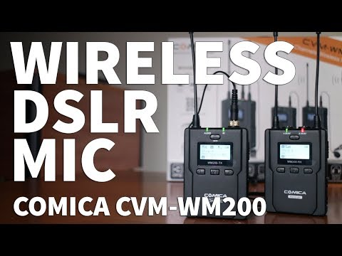 Wireless DSLR Microphone System – Comica CVM-WM200 Dual Wireless DSLR Mic