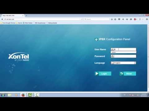 How to change date and time on XonTel PBX S200 S50 Arabic _زونتل