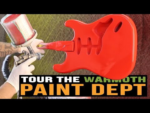 Warmoth Shop Tour: Paint and Finish Department