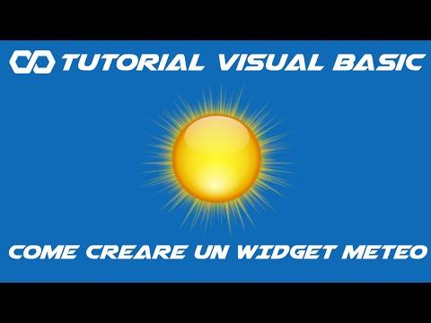 Tutorial Visual Basic #17 Widget Meteo