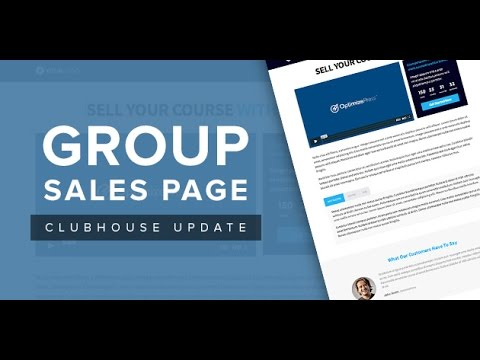 OptimizePress Club: Group - Sales Page Template