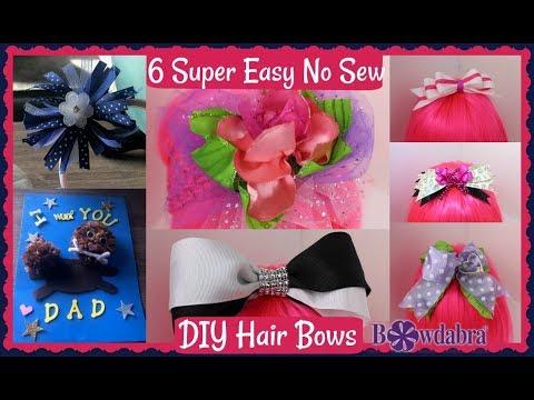 6 Super Easy No Sew DIY Hair Bows Anyone Can Make