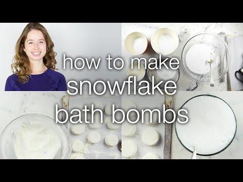 How to Make Snowflake Bath Bombs