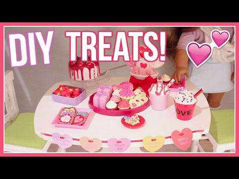 DIY VALENTINE'S DAY TREATS! | American Girl Doll Valentine's Day DIY Treats