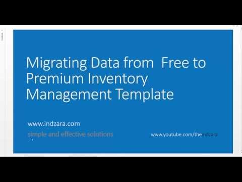 Inventory Management Excel Template - Migrating Data