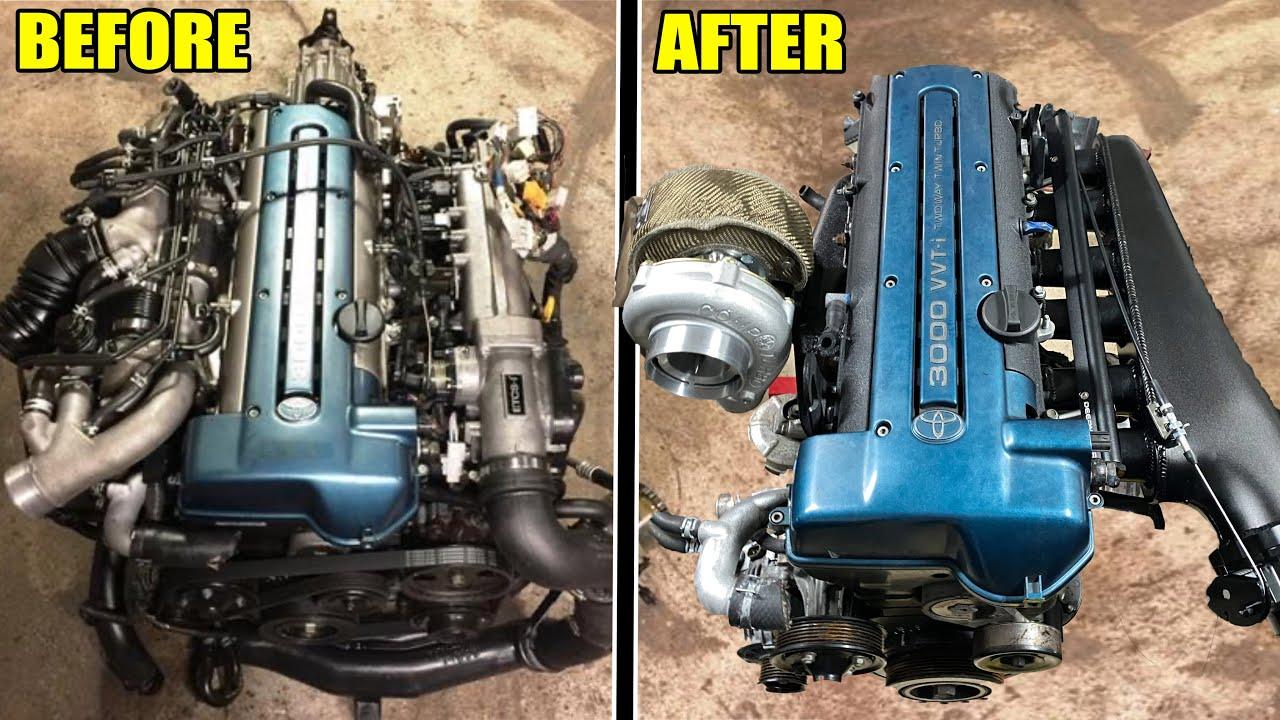 ULTIMATE 2JZ-GTE TRANSFORMATION! (Big turbo, intake manifold, paint etc.)