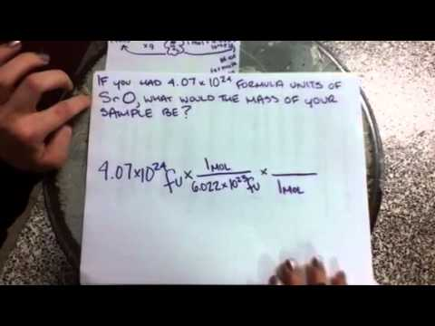Converting from Formula Units to Mass
